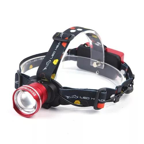 Lanterna de cabeça t6 led cree tatica profissional c/ zoom