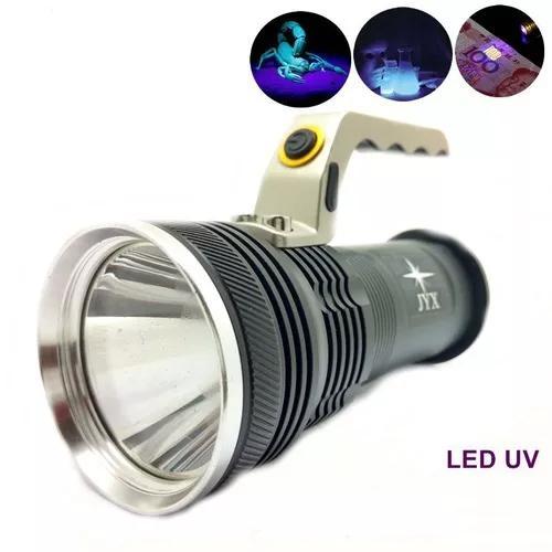 Lanterna luz negra 2 baterias recarregável led cree q5