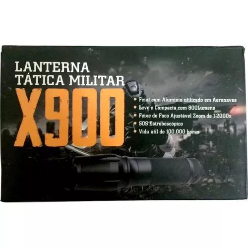 Lanterna tática militar x900 led l2 original na caixa