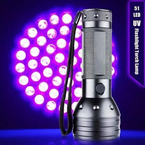 Lanterna uv ultravioleta 51 leds escorpiao luz negra