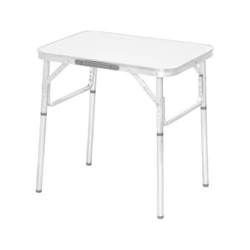 Mesa dobravel aluminio 60x45cm vira maleta camping