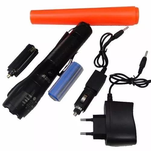 Queima!!lanterna tatica potente led t6 recarregavel