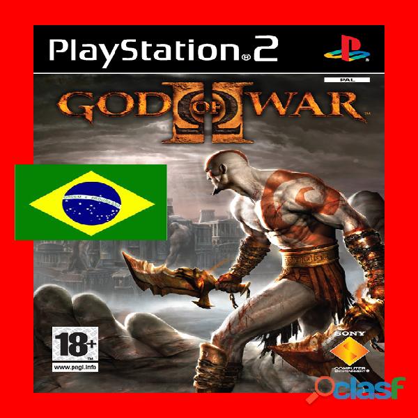 God of war 2 dublado pt br ps2 (gravado em dvd 8,5 gb)