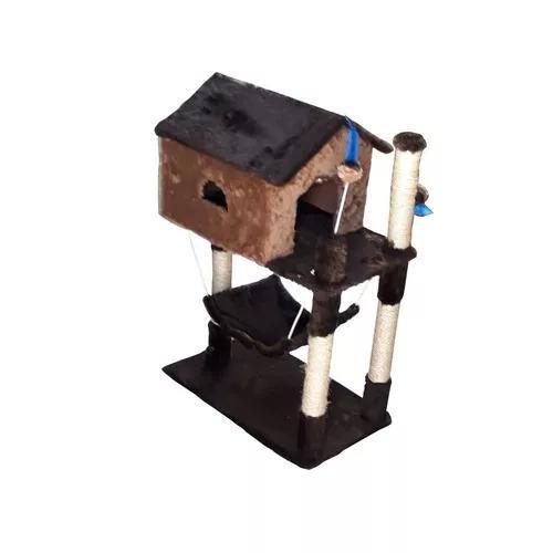 1 unidade arranhador com casa rede top animania pet