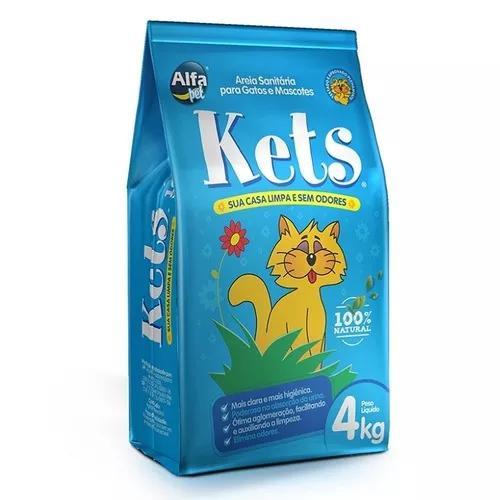 Areia higiênica kets para gatos - 4kg