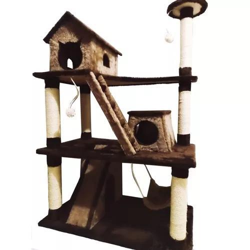 Arranhador gigante de luxo para gatos com casinha - bigtower