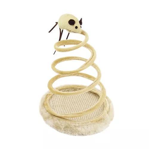 Brinquedo arranhador gatos mola c/ ratinho western pet-36