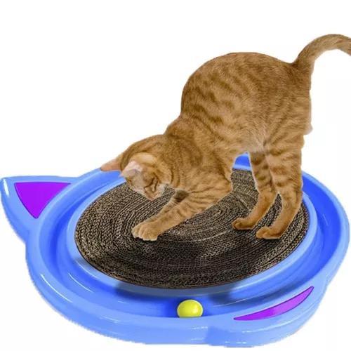 Brinquedo com arranhador e bolinha para gatos cat crazy