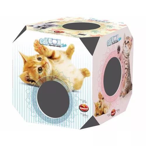 Brinquedo gato caixa nicho labirinto box cubo (0032)