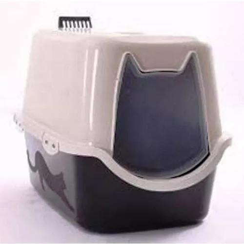 Caixa de areia fechada gatos banheiro durapets com pá preta