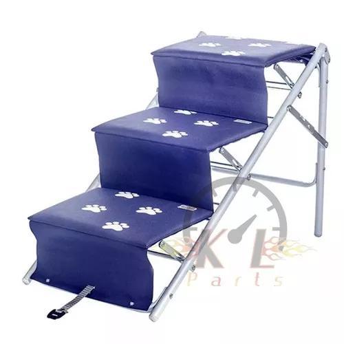 Escada ou rampa para cães cachorro tubline dobrável azul