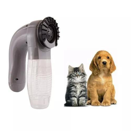 Kit escova aspirador suga tira pelo pet cachorro gato + luva