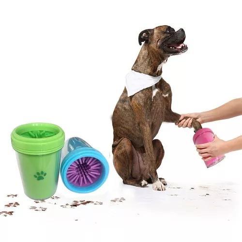 Lava patas cães limpador higienizador de patas prático tam