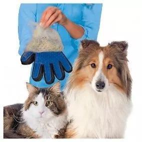 Luva escova tira pelos cachorro gato cães pet mágica top