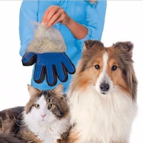 Luva tira pelos para caes e gatos true touch pronta entrega