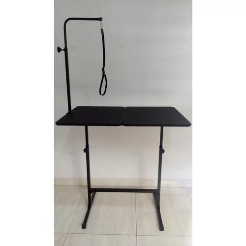 Mesa banho e tosa regulável preto petshop