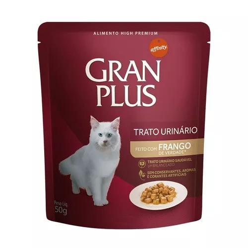 Ração úmida granplus para gatos tratamento urinário 50g