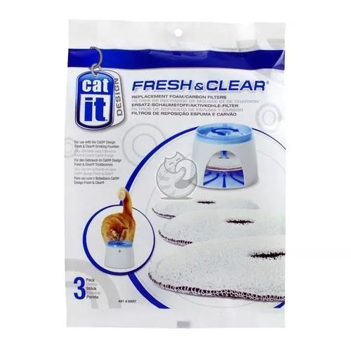 Refil filtro para fonte bebedouro cat it fresh & clear pq