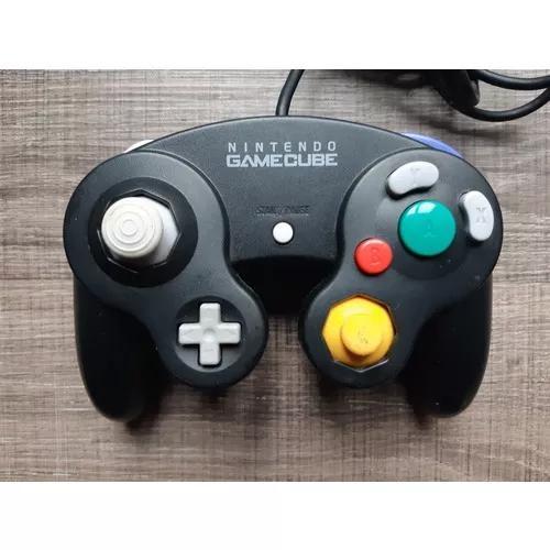 Controle original nintendo gamecube preto ref is6