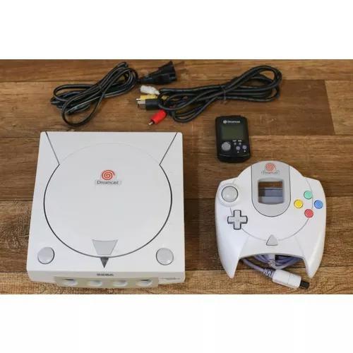 Dreamcast + 11 jogos classicos + vmu + controle + cabo a/v