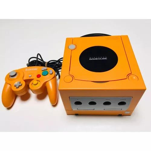 Nintendo gamecube laranja japonês