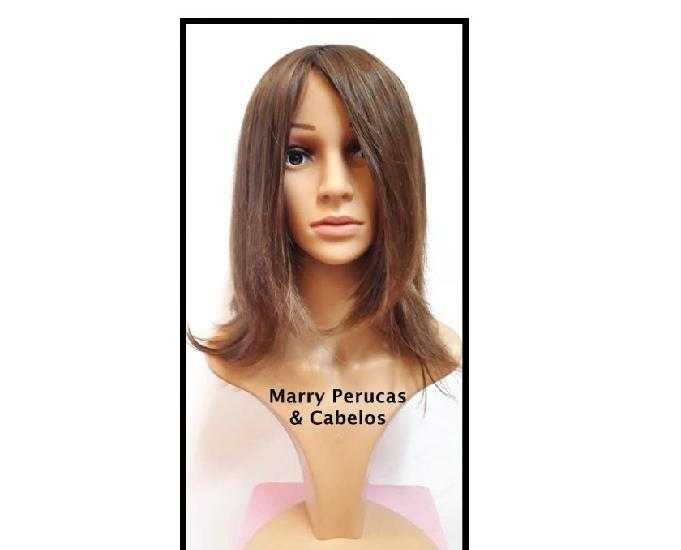 Peruca de cabelo natural liso loiro escuro cod.278
