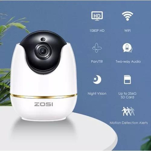 Camera vigilancia interna 1080p casa bebe monitor com 32 gb