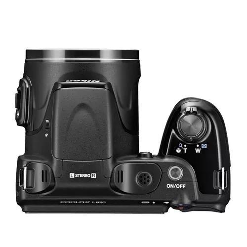 Câmera digital nikon coolpix l820 preta - 16mp, lcd 3.0