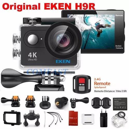 Câmera eken h9 4k c/ case prova dágua frete grátis
