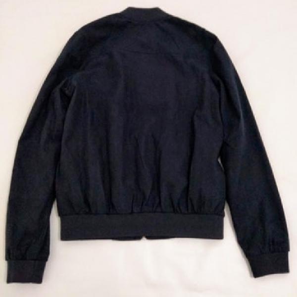 Jaqueta pull&bear azul marinho suede