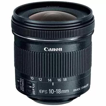 Lente canon 10-18mm f/4.5-5.6 is stm