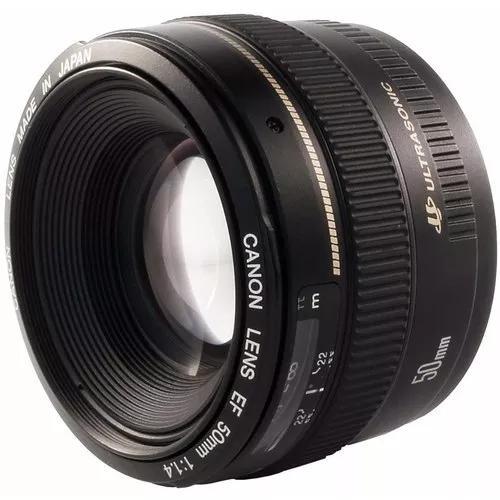 Lente canon ef 50mm f/1.4 usm af autofoco ultrasonic 1.4
