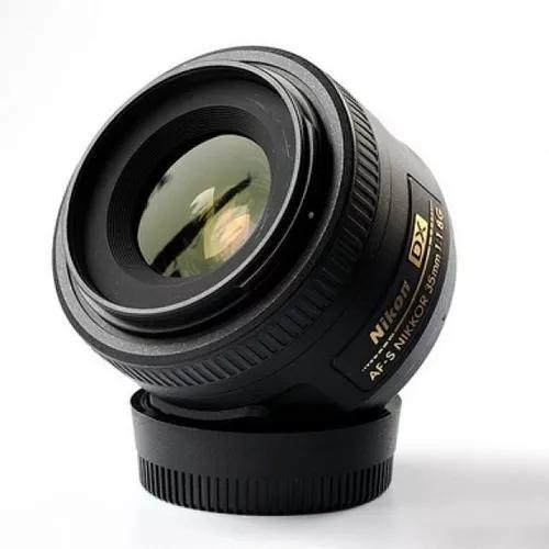 Lente nikon af-s dx nikkor 35mm f/1.8g objetiva com parasol