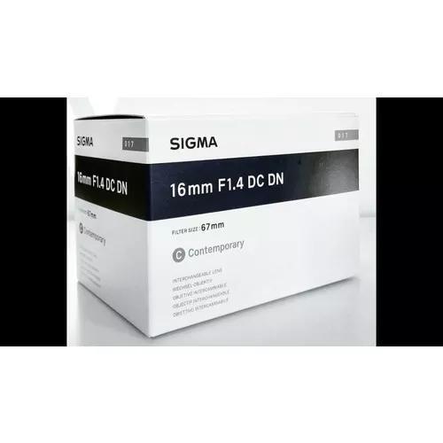 Lente sigma 16mm f1.4 dc dn (sony e)