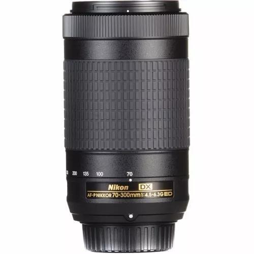 Lente teleobjetiva nikon 70-300mm af-p dx f/4.5-6.3g ed