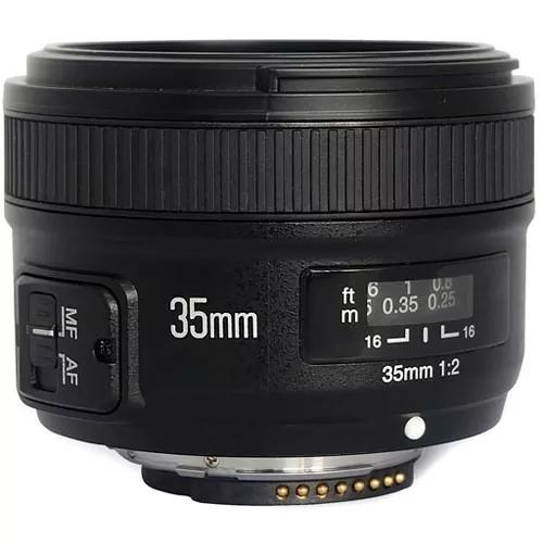 Lente yongnuo yn 35mm f/2 para câmeras nikon