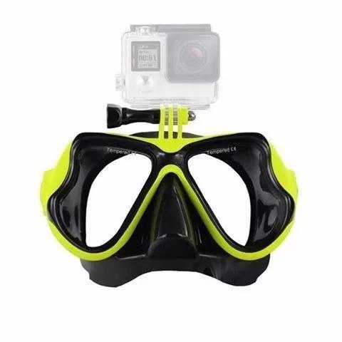 ed176c4f9 Mascara mergulho silicone com suporte go pro hero 5 4 3 2 1