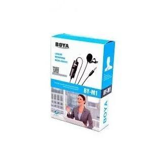 Microfone lapela estéreo boya m1 para câmeras e celulares