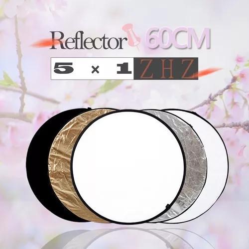 Rebatedor circular 5x1 60cm refletor fotográfico difusor