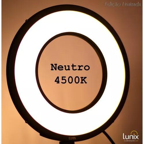 Ring light led 4500k (neutro) 25w - lunix