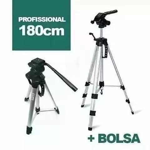 Tripé 1,80m p/ binoculos, camera, celular projetor barato