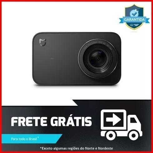 Xiaomi mijia mini 4k 30fps wifi camera de açao touch black