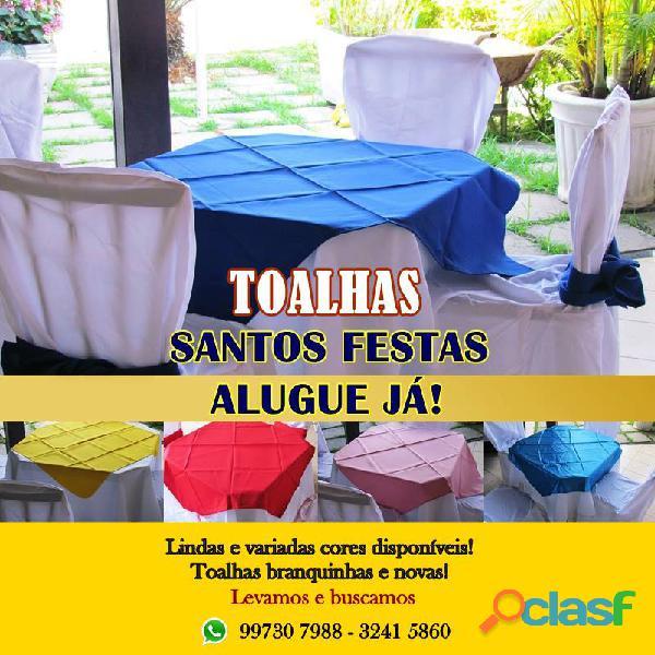 Santos festas   aluguel de toalha para festas