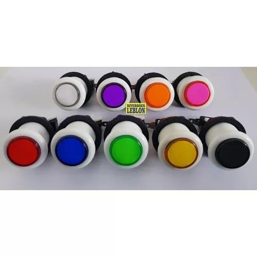 4 comandos + 60 botões acrílico p/ jukebox fliperama
