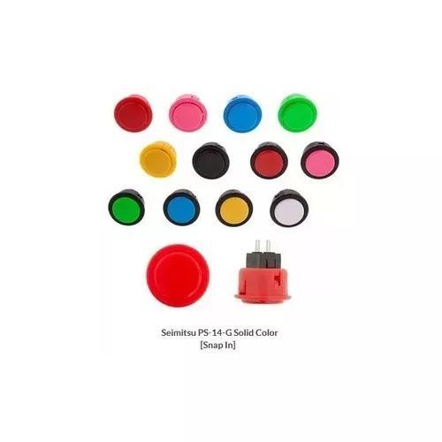 Botão original seimitsu cor solida (24mm ou 30mm)