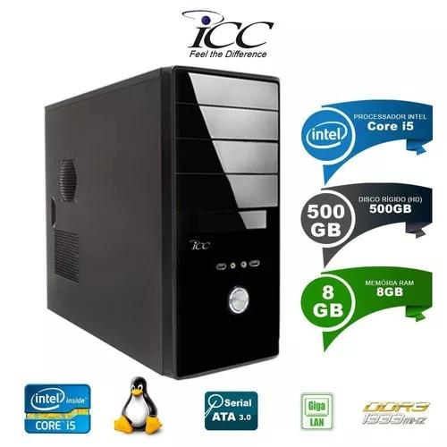 Computador desktop icc intel core i5 8gb hd 500gb.
