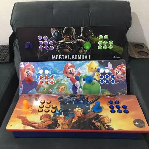 Controle arcade duplo portatil multijogos 07 mil jogos pi3