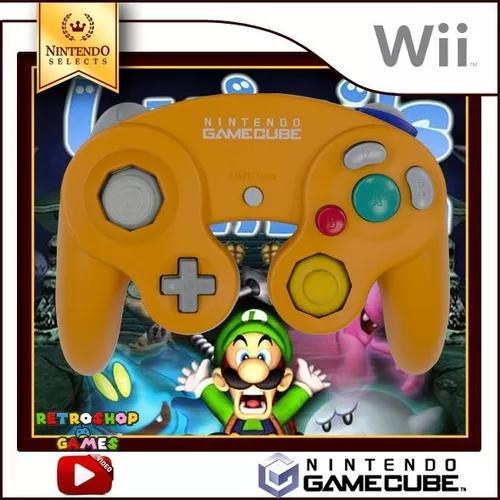 Controle original nintendo game cube e wii - laranja