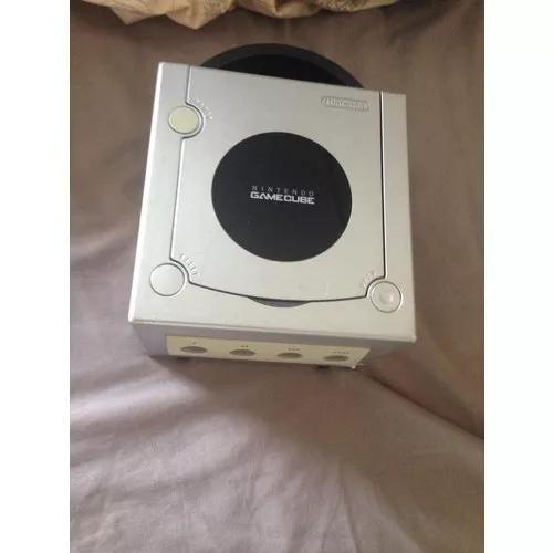 Gamecube original cinza com controle e m