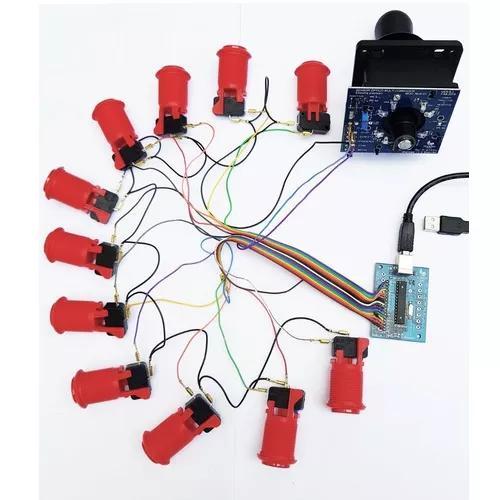 Kit placa sensor óptico + zero dalay + manete e 11 botões